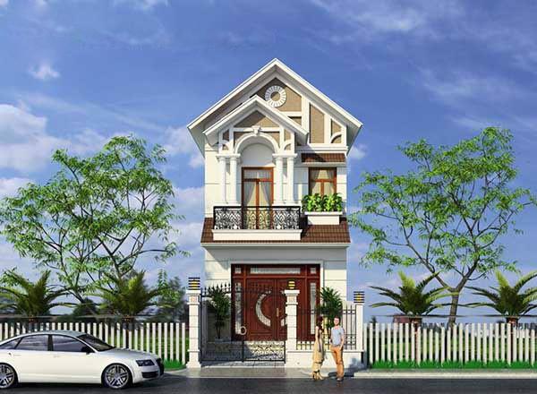Thiết kế thi công nhà phố mái Thái hiện đại